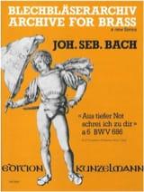 BACH - Aus Tiefer Not Schrei Ich Zu Dir à 6 BWV 686 - Partition - di-arezzo.fr