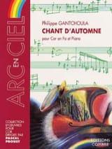 Chant D' Automne Philippe Gantchoula Partition Cor - laflutedepan