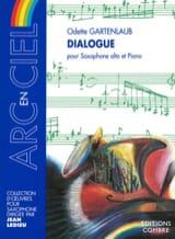 Dialogue Odette Gartenlaub Partition Saxophone - laflutedepan