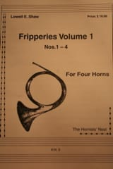 Fripperies Volume 1 N° 1-4 Lowell E. Shaw Partition laflutedepan.com