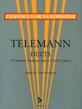 TELEMANN - Duets - 6 Canonic sonatas and a circle canon - Partition - di-arezzo.fr