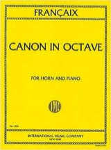 Jean Francaix - Canon In Octave - Sheet Music - di-arezzo.co.uk