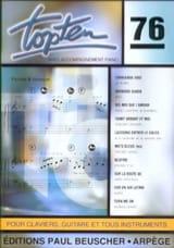 Topten 76 - Partition - Chansons françaises - laflutedepan.com