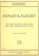 Adagio & Allegro Georg Friedrich Haendel Partition laflutedepan.com