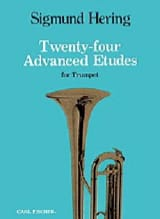 Sigmund Hering - 24 Advanced Etudes For Trumpet - Partition - di-arezzo.fr