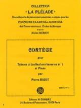 Cortège Pierre Bigot Partition Tuba - laflutedepan.com