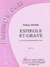 Espiègle et grave - Philippe Oprandi - Partition - laflutedepan.com