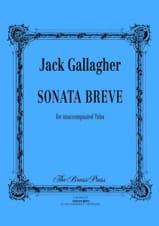 Sonata Breve Jack Gallagher Partition Tuba - laflutedepan.com