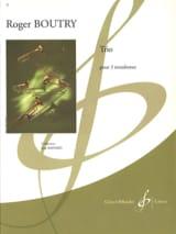 Roger Boutry - Trio - Partition - di-arezzo.fr