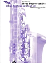 Three Improvisations Phil Woods Partition Saxophone - laflutedepan.com