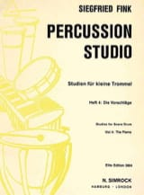 Siegfried Fink - Studies For Snare Trommel Drum Volume 4 - Sheet Music - di-arezzo.co.uk