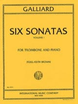 Six Sonatas Volume 1 John E. Galliard Partition laflutedepan.com