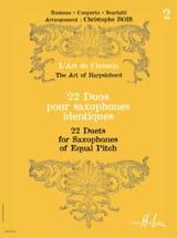 22 Duos Pour Saxophones Identiques Volume 2 laflutedepan.com