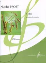 9 Trios Nicolas Prost Partition Saxophone - laflutedepan.com