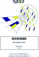 Recuerdos Didier Benetti Partition Marimba - laflutedepan.com