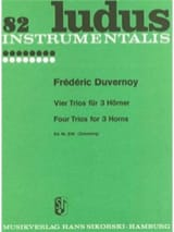 Frédéric Duvernoy - Four Trios For 3 Horns - Partition - di-arezzo.fr