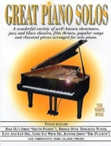 Great piano solos - The white book Partition Jazz - laflutedepan.com