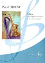 Pascal Proust - Sphinx - Partition - di-arezzo.fr