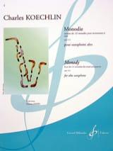 Charles Koechlin - Monody - Sheet Music - di-arezzo.co.uk