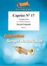 Caprice N° 17 Niccolo Paganini Partition Trompette - laflutedepan.com