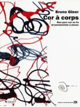 Cor à corps Bruno Giner Partition Multi Percussions - laflutedepan