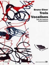 Bruno Giner - Trois vocalises - Partition - di-arezzo.fr