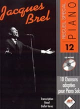 Jacques Brel - Recueil Spécial Piano N° 12 - Partition - di-arezzo.fr