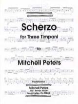 Scherzo for Three Timpani - Mitchell Peters - laflutedepan.com