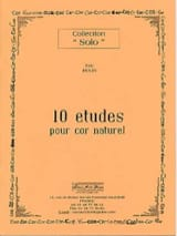 Eric Hulin - 10 Studies For Natural Horn - Sheet Music - di-arezzo.com