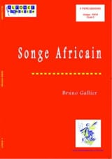 Songe Africain Bruno Gallier Partition laflutedepan.com
