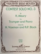 Contest Solo N° 3 H. Maury Partition Trompette - laflutedepan.com