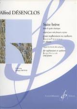 Suite Brève Alfred Désenclos Partition Tuba - laflutedepan.com