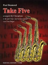 Take Five Paul Desmond Partition Saxophone - laflutedepan.com