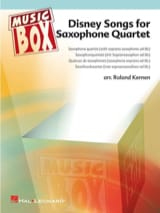 Disney songs for saxophone quartet - music box laflutedepan.com