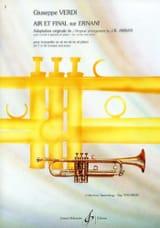 Giuseppe Verdi - Air Et Final Sur Ernani - Partition - di-arezzo.fr