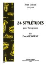 24 Stylétudes Pascal Proust Partition Saxophone - laflutedepan.com