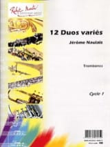 12 Duos Variés Pour Trombones Jérôme Naulais laflutedepan.com
