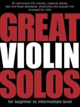 Great Violin Solos Partition Violon - laflutedepan.com