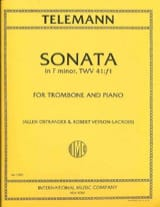 Sonata In Fa Minor, TWV 41:f1 TELEMANN Partition laflutedepan.com
