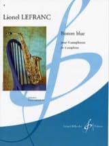 Boston Blue Lionel Lefranc Partition Saxophone - laflutedepan.com