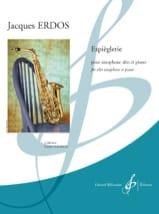 Espièglerie - Jacques Erdos - Partition - Saxophone - laflutedepan.com