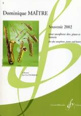 Souvenir 2002 Dominique Maître Partition Saxophone - laflutedepan.com
