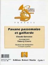 Claude Gervaise - Pavane Passemaize Et Gaillarde - Partition - di-arezzo.fr
