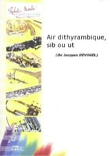 Air Dithyrambique - Jacques Devogel - Partition - laflutedepan.com