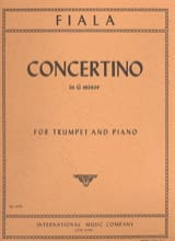 Concertino In G Minor Joseph Fiala Partition laflutedepan.com