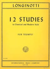 12 Studies For Trumpet Solo Paolo Longinotti laflutedepan.com