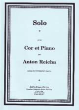 Solo Anton Reicha Partition Cor - laflutedepan.com
