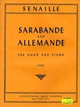 Sarabande And Allemande Jean Baptiste Senaillé Partition laflutedepan