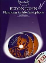 Elton John - Guest Spot - Elton John Playalong For Alto Saxophone - Partition - di-arezzo.fr