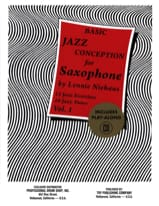 Lennie Niehaus - Basic Jazz Conception For Saxophone Volume 1 - Partition - di-arezzo.fr